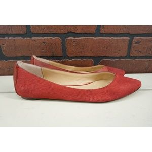 JOE'S JEANS Pink Pointed Toe Flats Mixed Suede 8